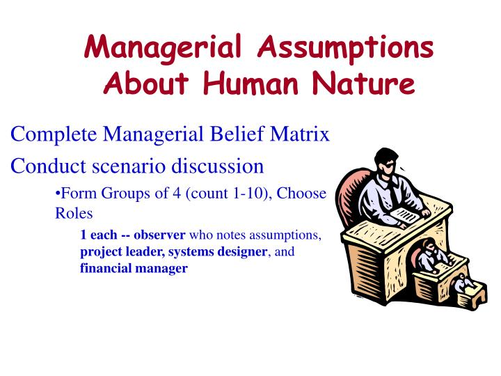 Managerial Assumptions About Human Nature