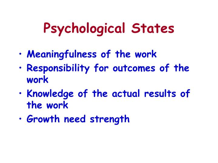 Psychological States