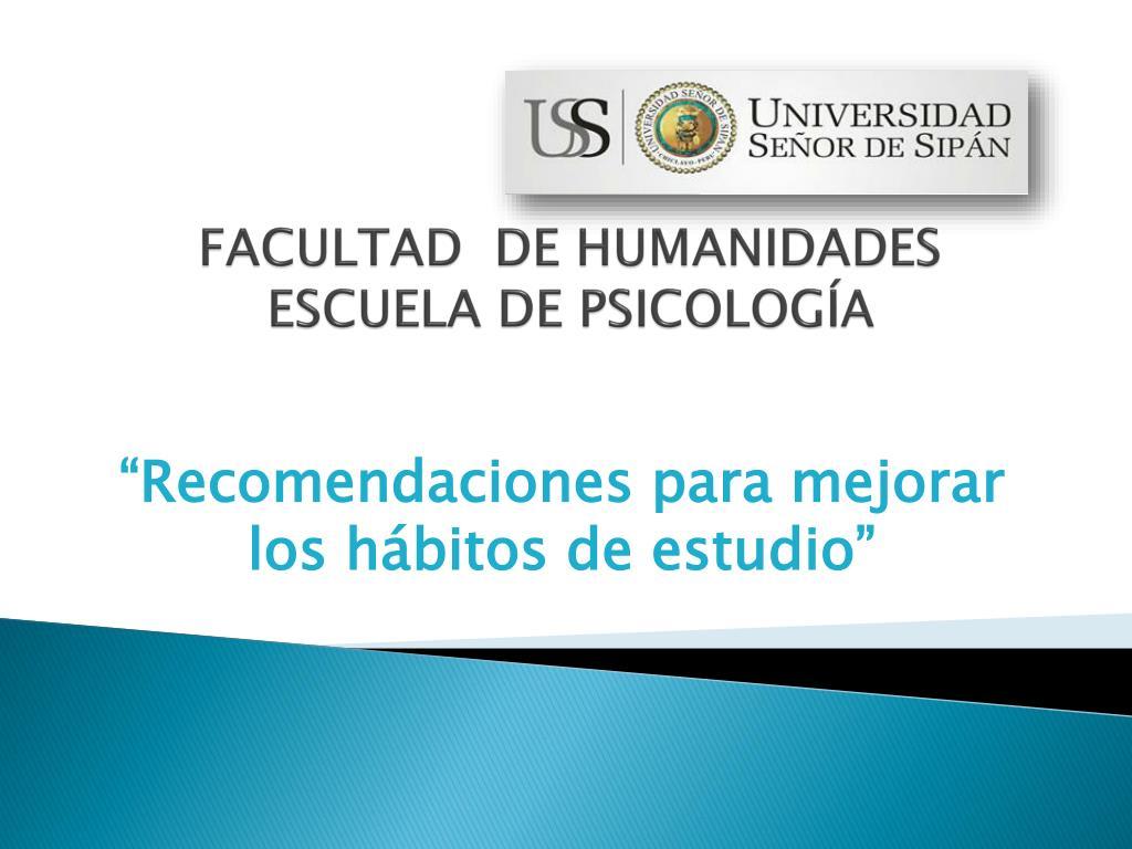 FACULTAD  DE HUMANIDADES