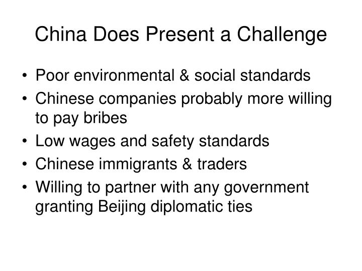China Does Present a Challenge