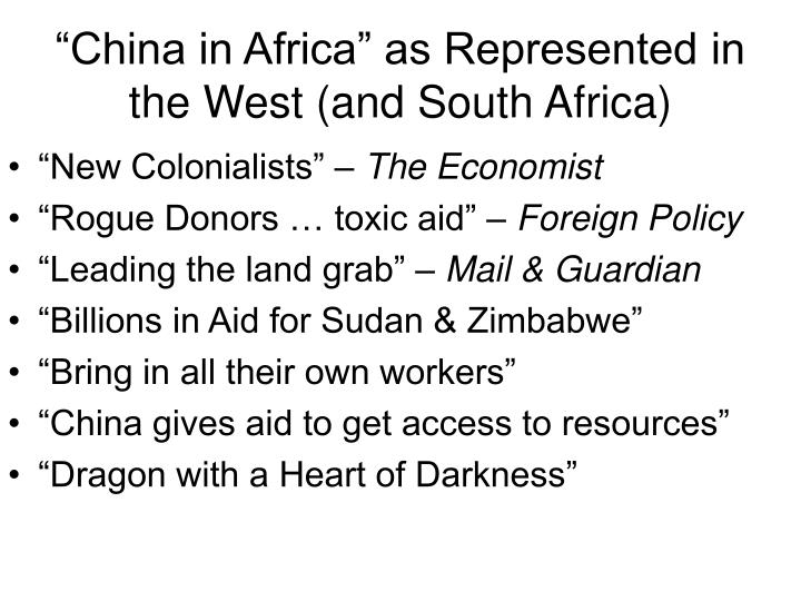 """China in Africa"" as Represented in the West (and South Africa)"