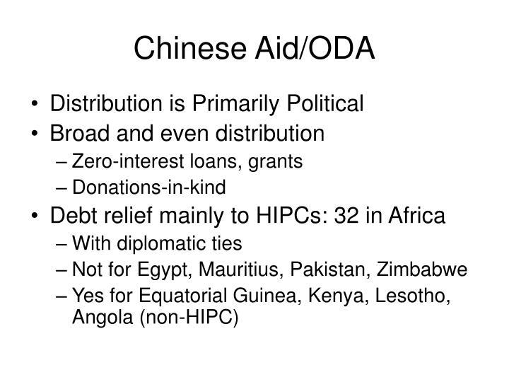 Chinese Aid/ODA