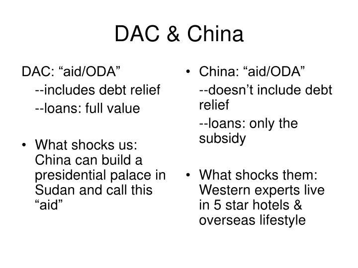 """DAC: """"aid/ODA"""""""
