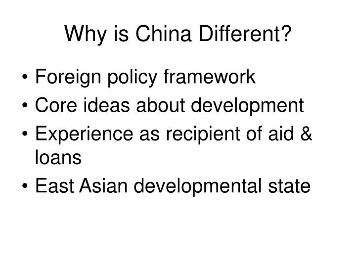 Why is China Different?