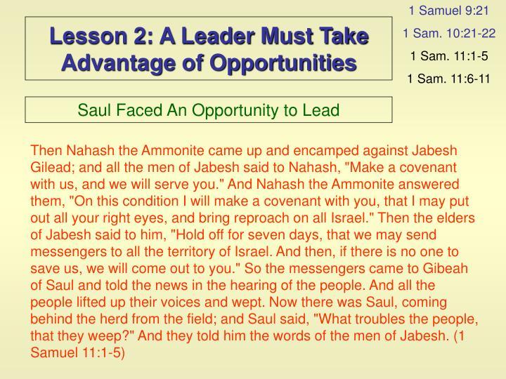 1 Samuel 9:21
