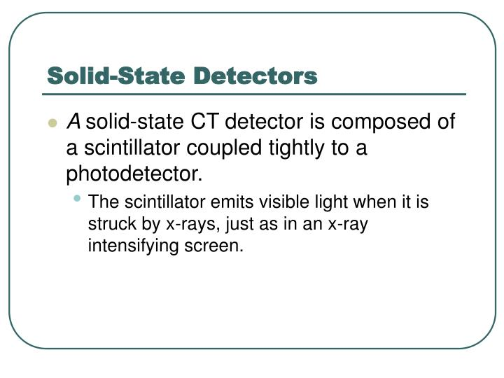 Solid-State Detectors