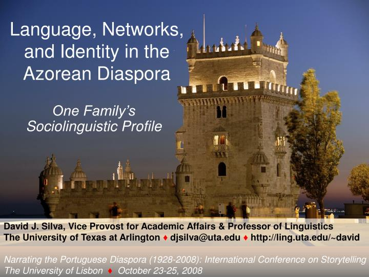 Language networks and identity in the azorean diaspora