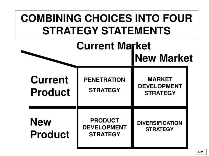 COMBINING CHOICES INTO FOUR STRATEGY STATEMENTS