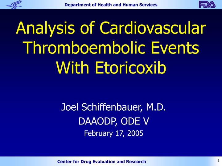 Analysis of cardiovascular thromboembolic events with etoricoxib