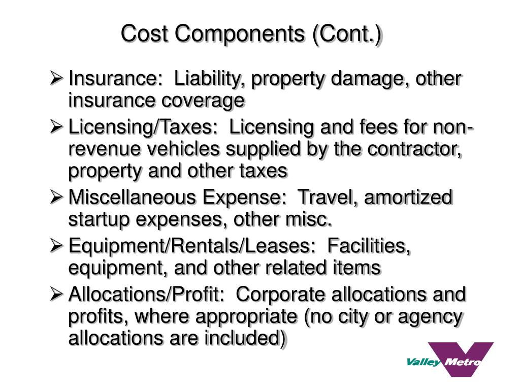 Cost Components (Cont.)