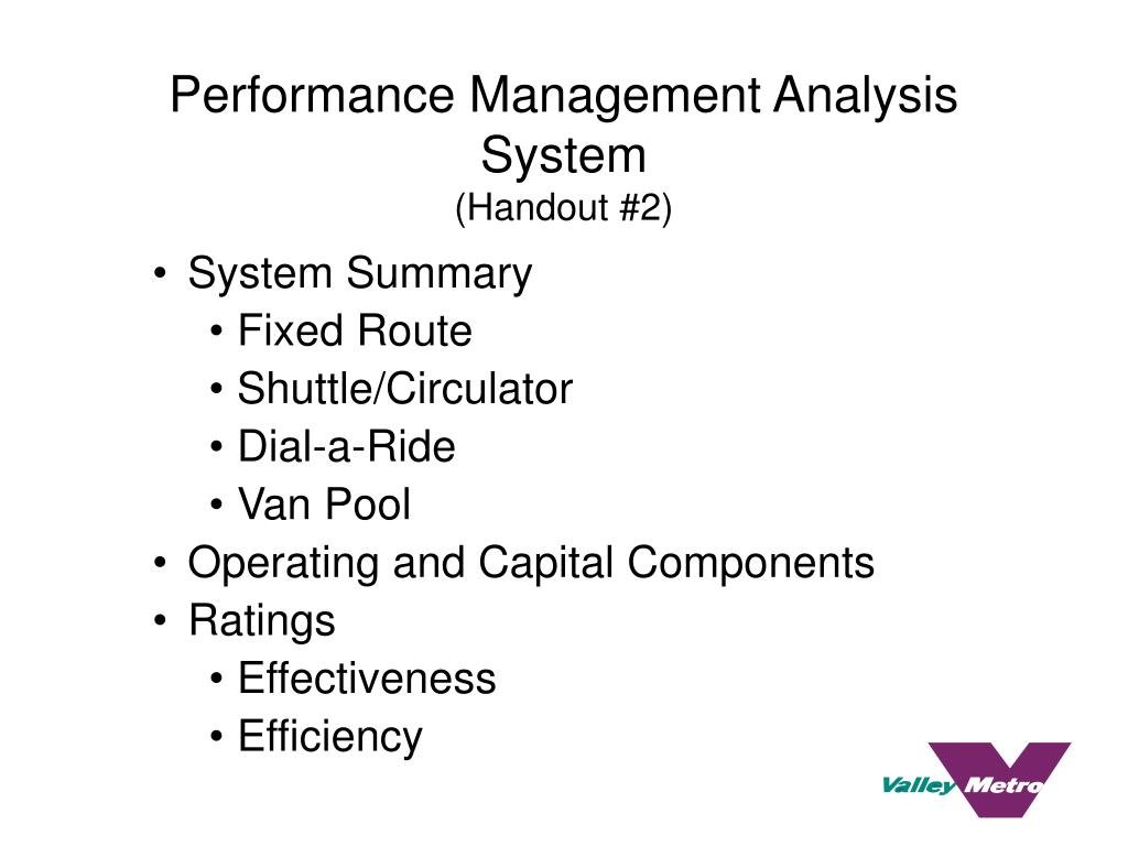 Performance Management Analysis System