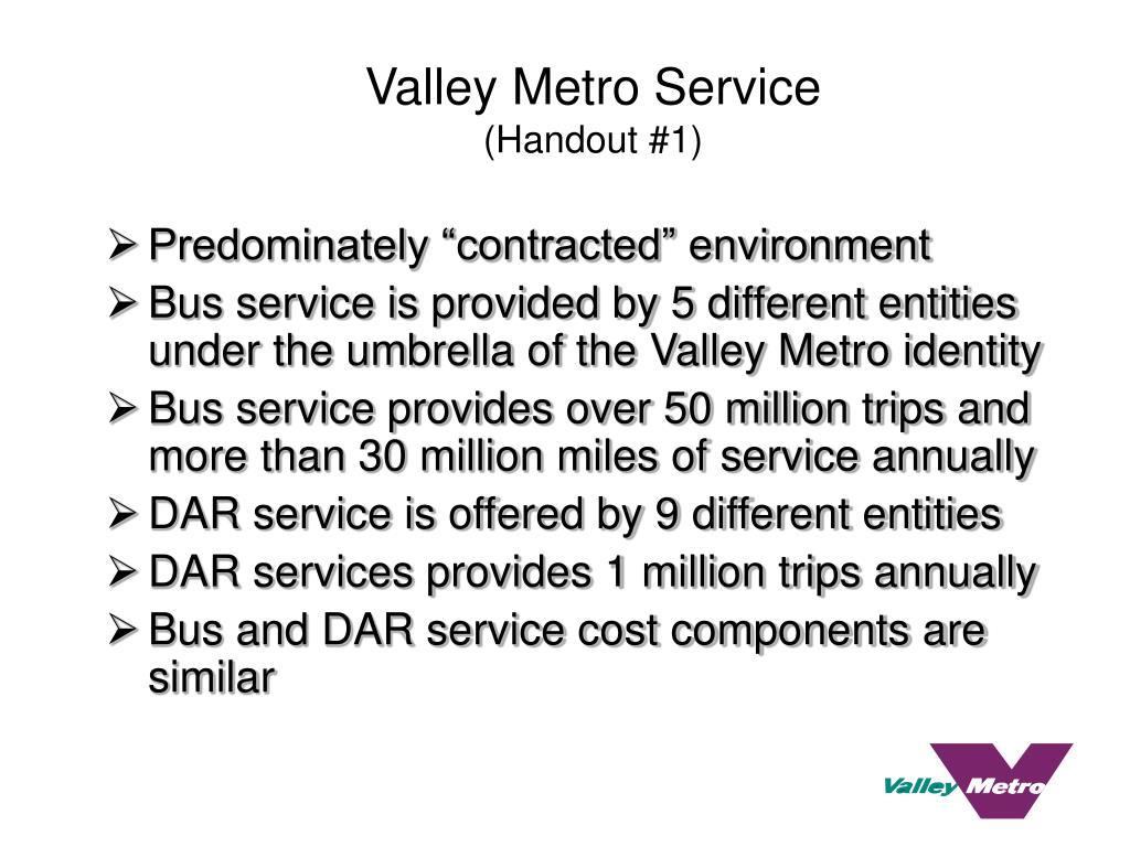 Valley Metro Service