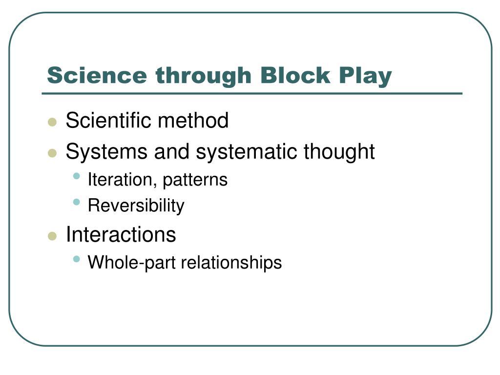 Science through Block Play