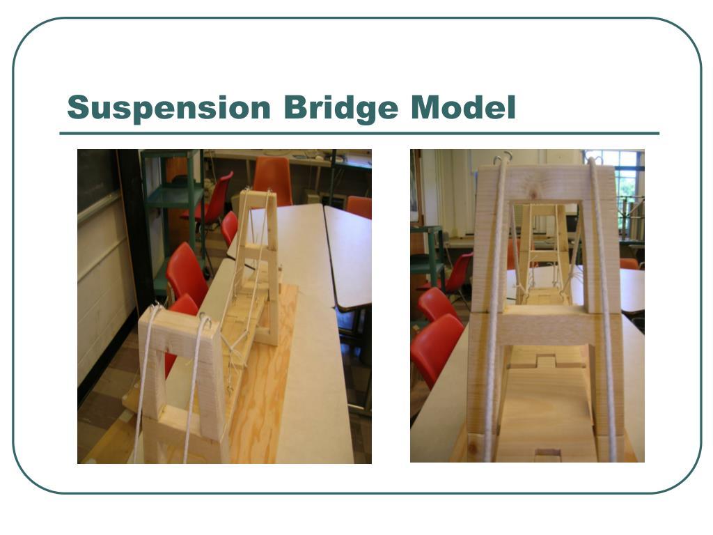 Suspension Bridge Model
