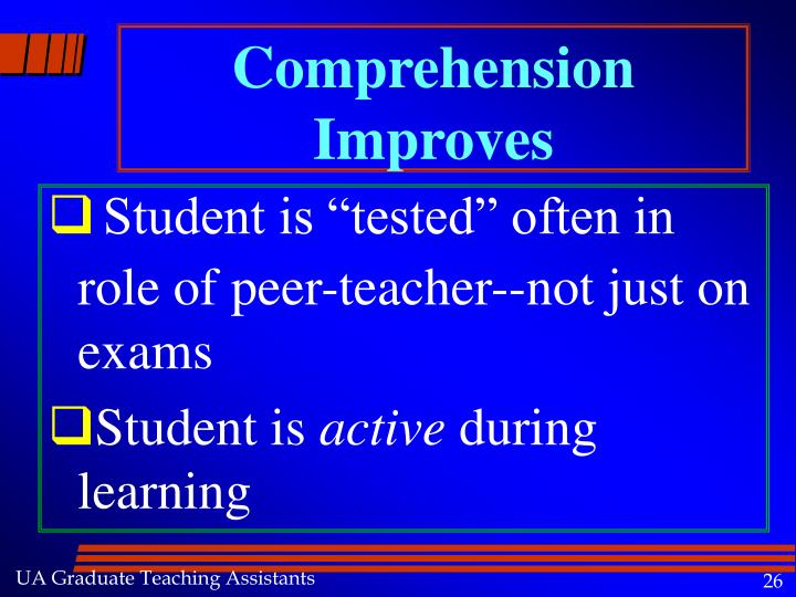 Comprehension Improves