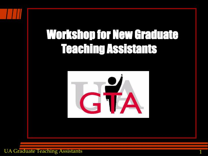 Workshop for New Graduate