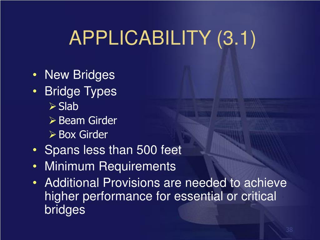 APPLICABILITY (3.1)