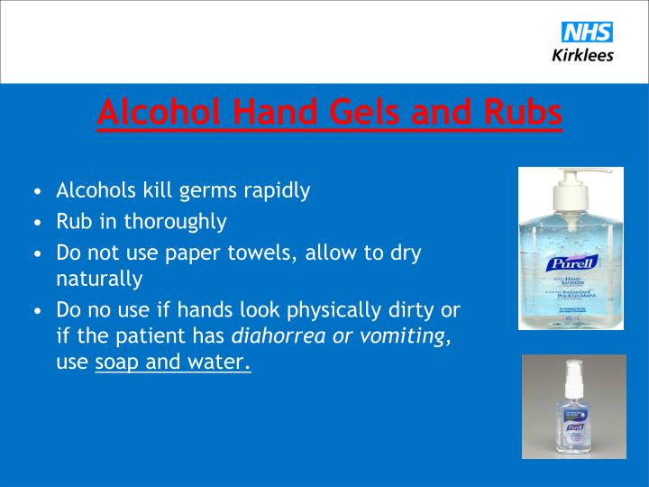 Alcohol Hand Gels and Rubs