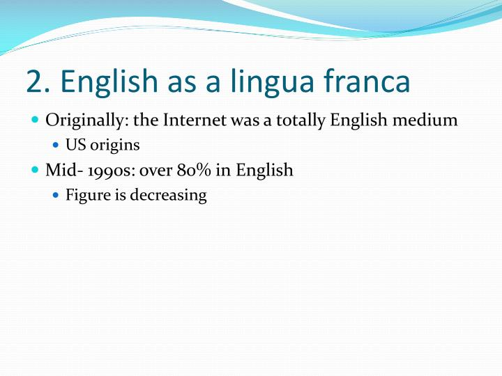 English lingua franca essays