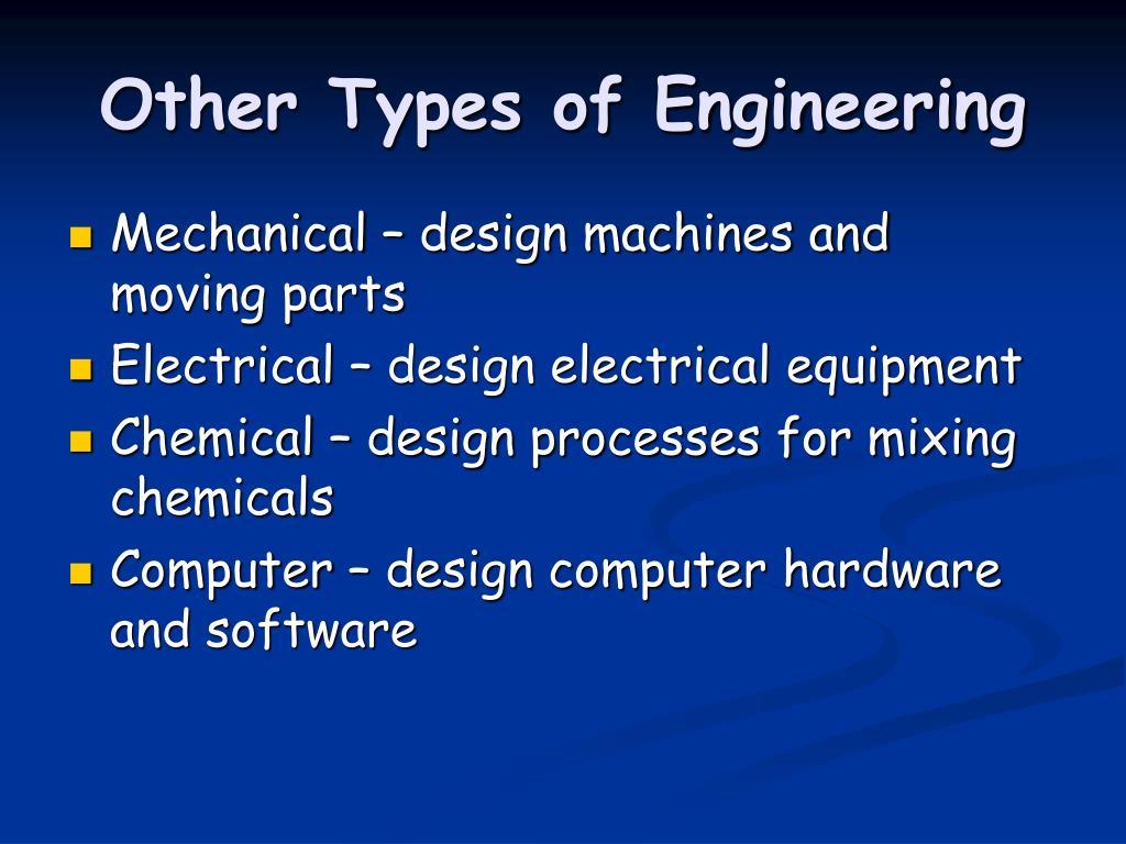 Types of engineers
