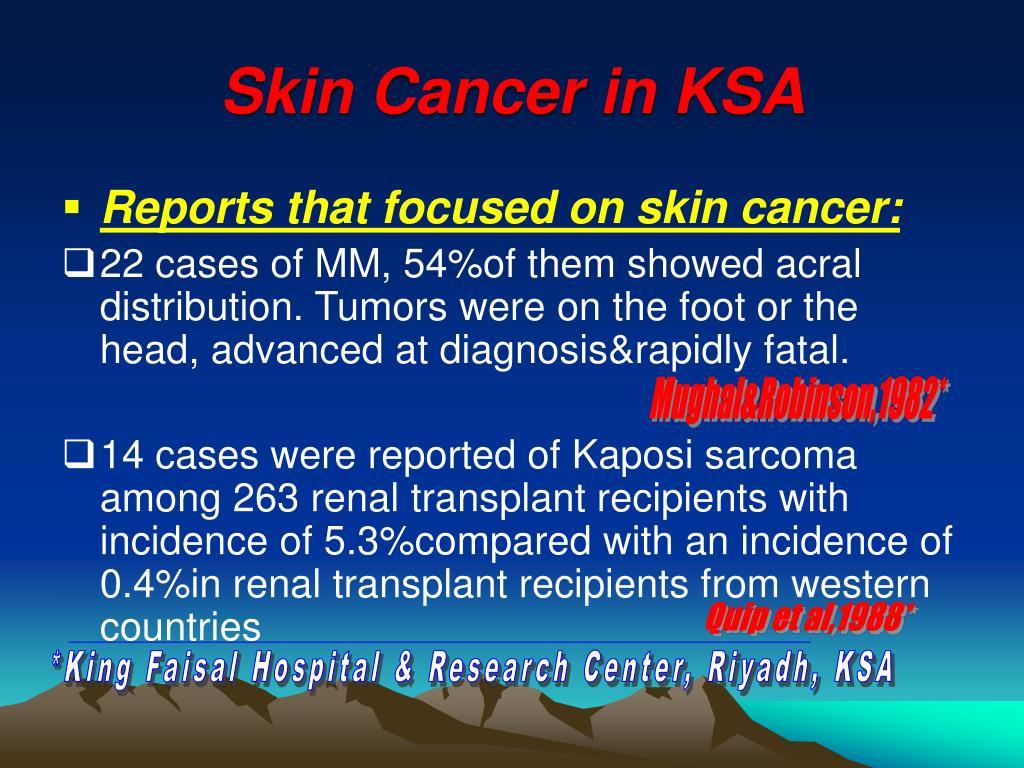 Skin Cancer in KSA