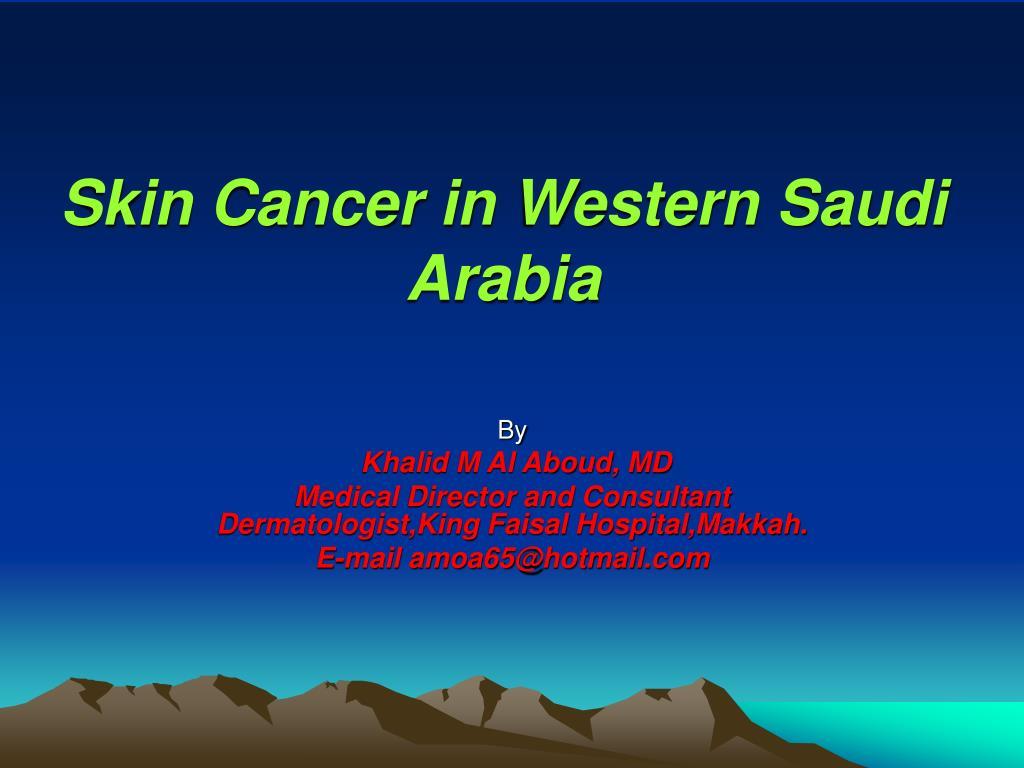 Skin Cancer in Western Saudi Arabia