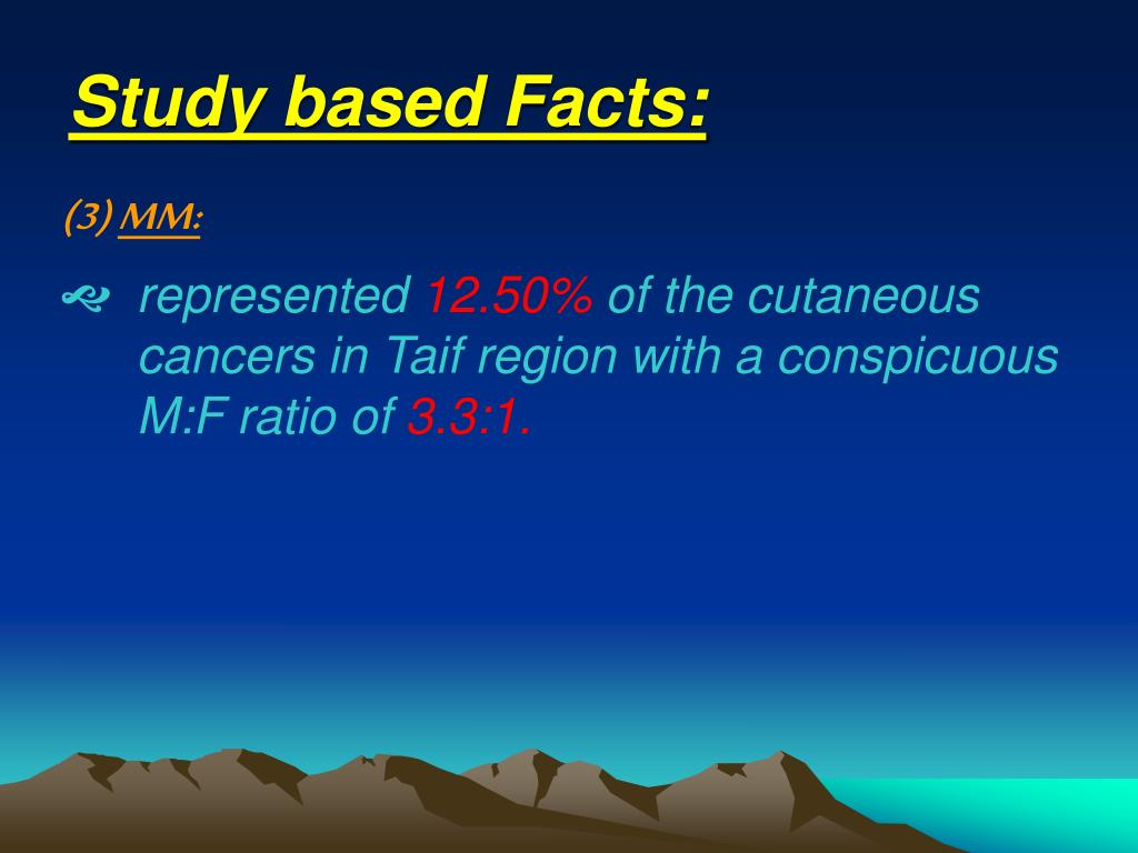 Study based Facts: