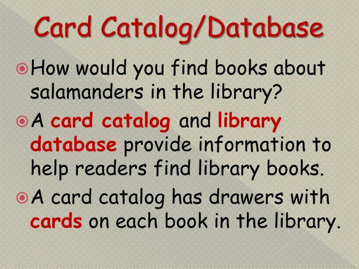 Card Catalog/Database