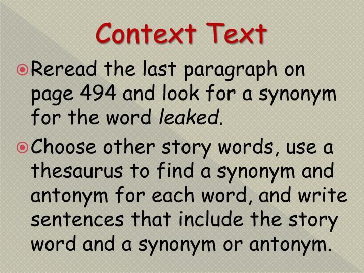 Context Text