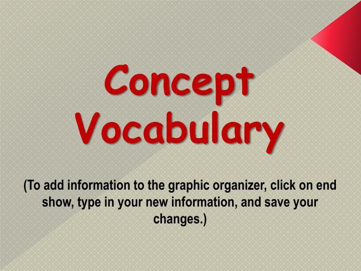 Concept Vocabulary