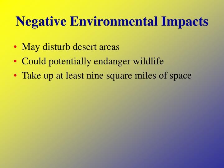 Negative Environmental Impacts
