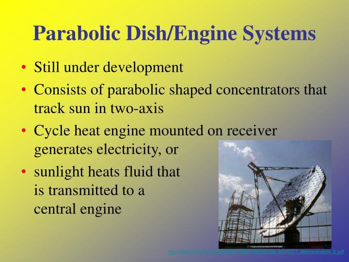 Parabolic Dish/Engine Systems