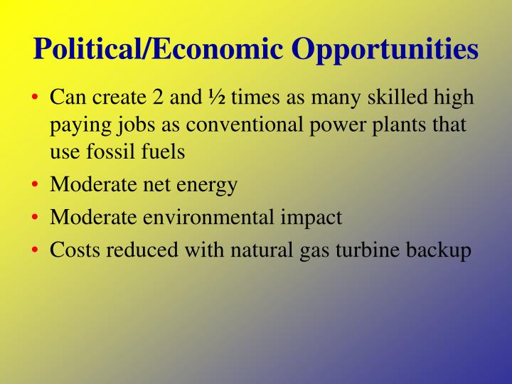 Political/Economic Opportunities