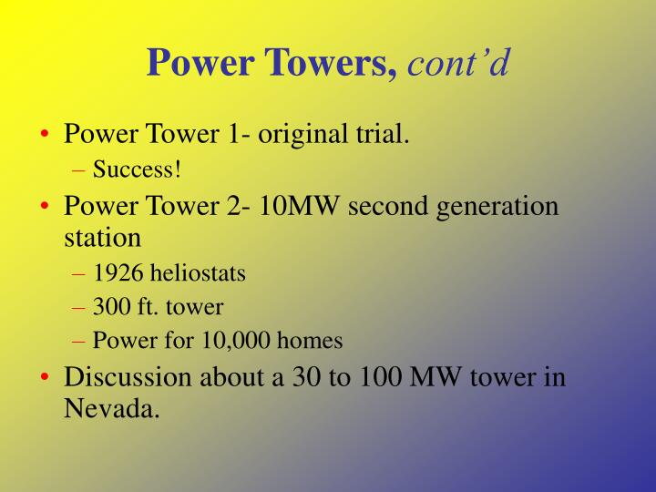 Power Towers,