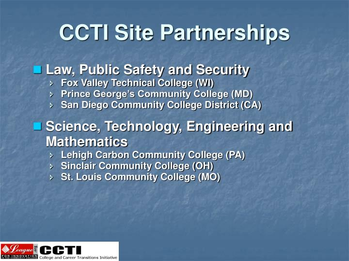 CCTI Site Partnerships