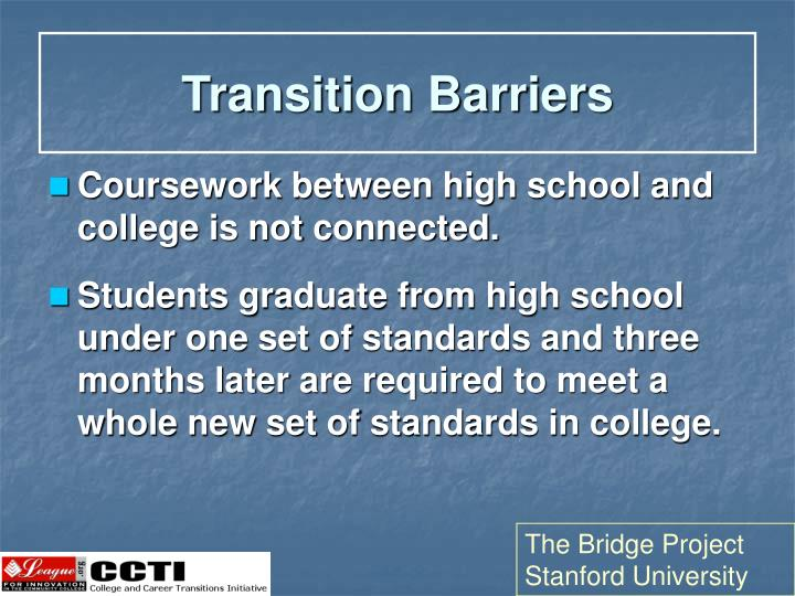 Transition Barriers