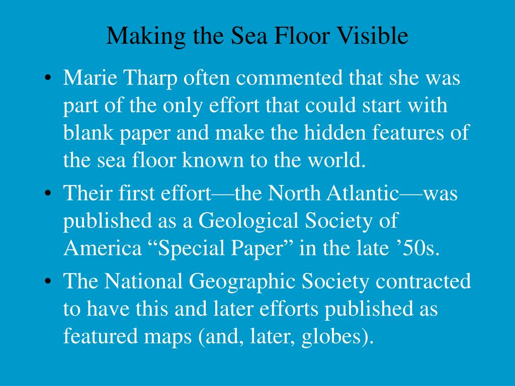 Making the Sea Floor Visible