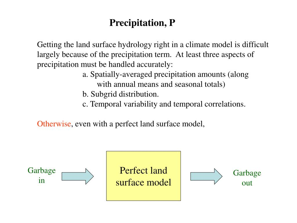 Precipitation, P