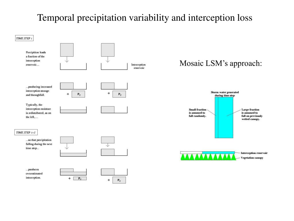 Temporal precipitation variability and interception loss