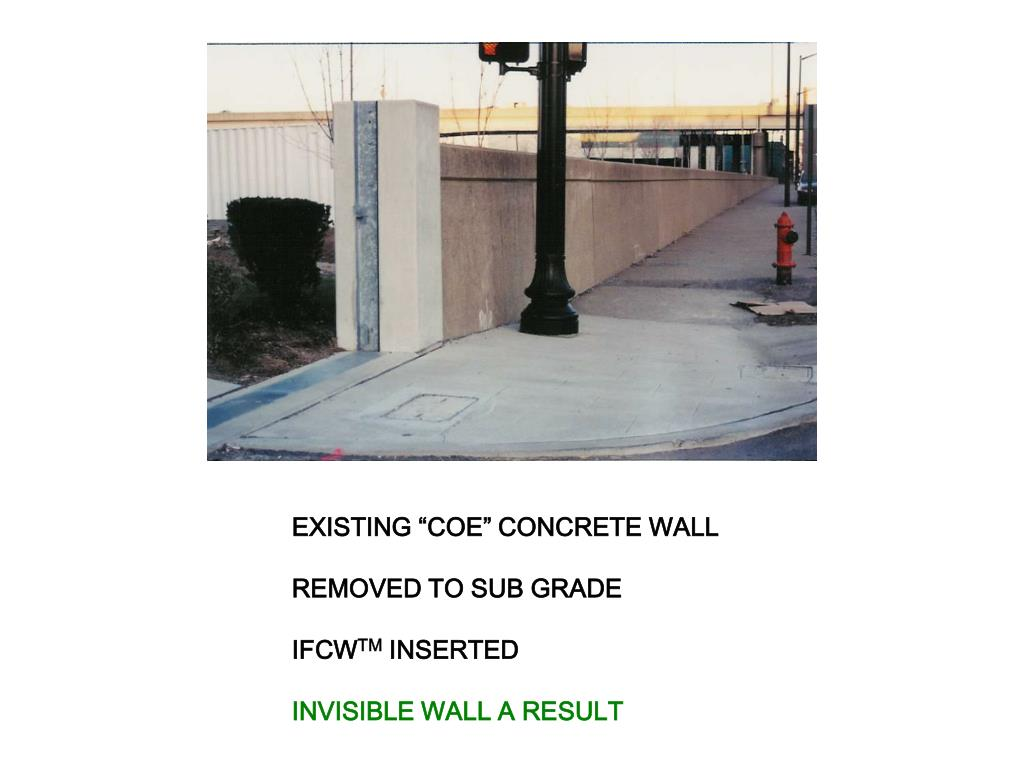 "EXISTING ""COE"" CONCRETE WALL"