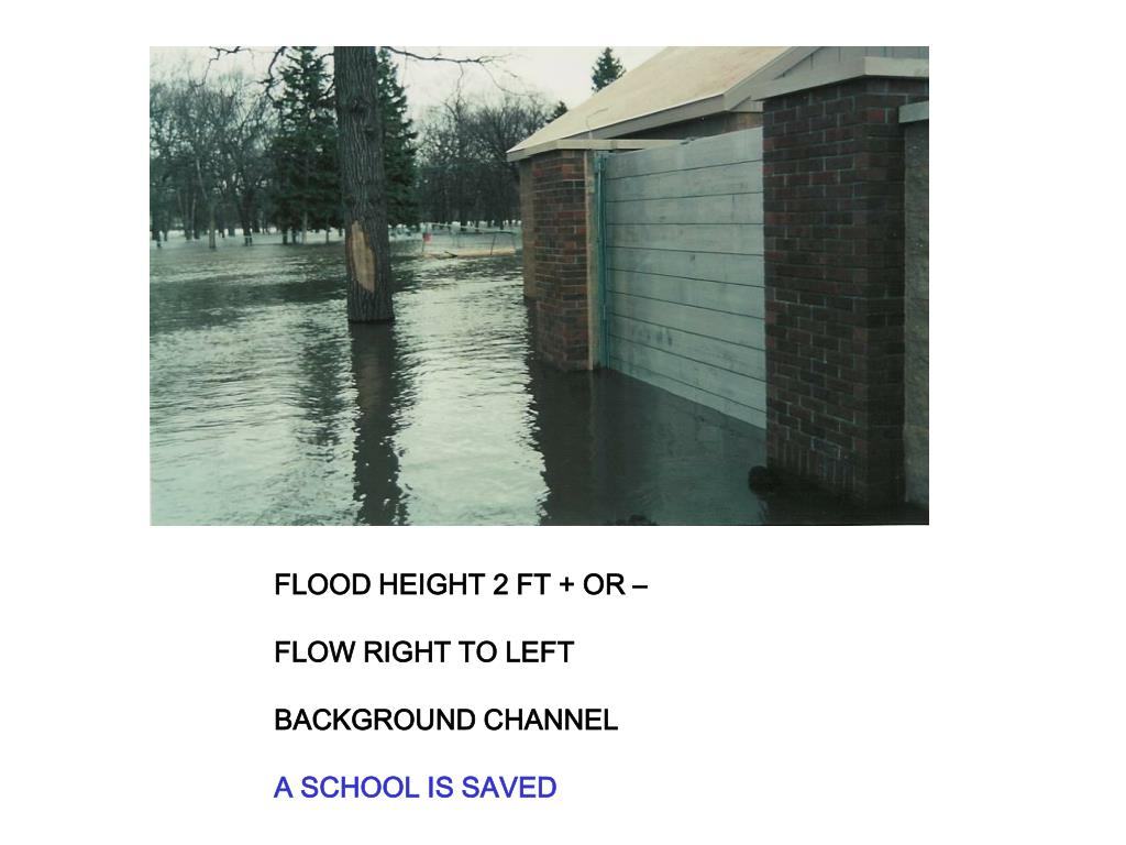 FLOOD HEIGHT 2 FT + OR –
