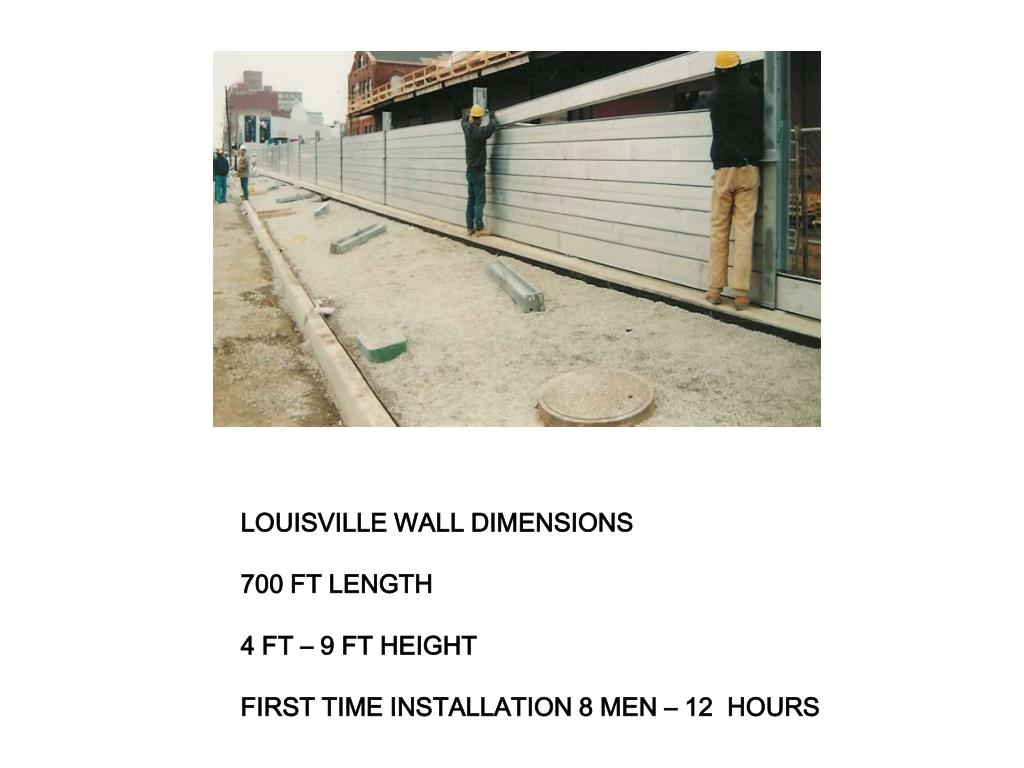 LOUISVILLE WALL DIMENSIONS