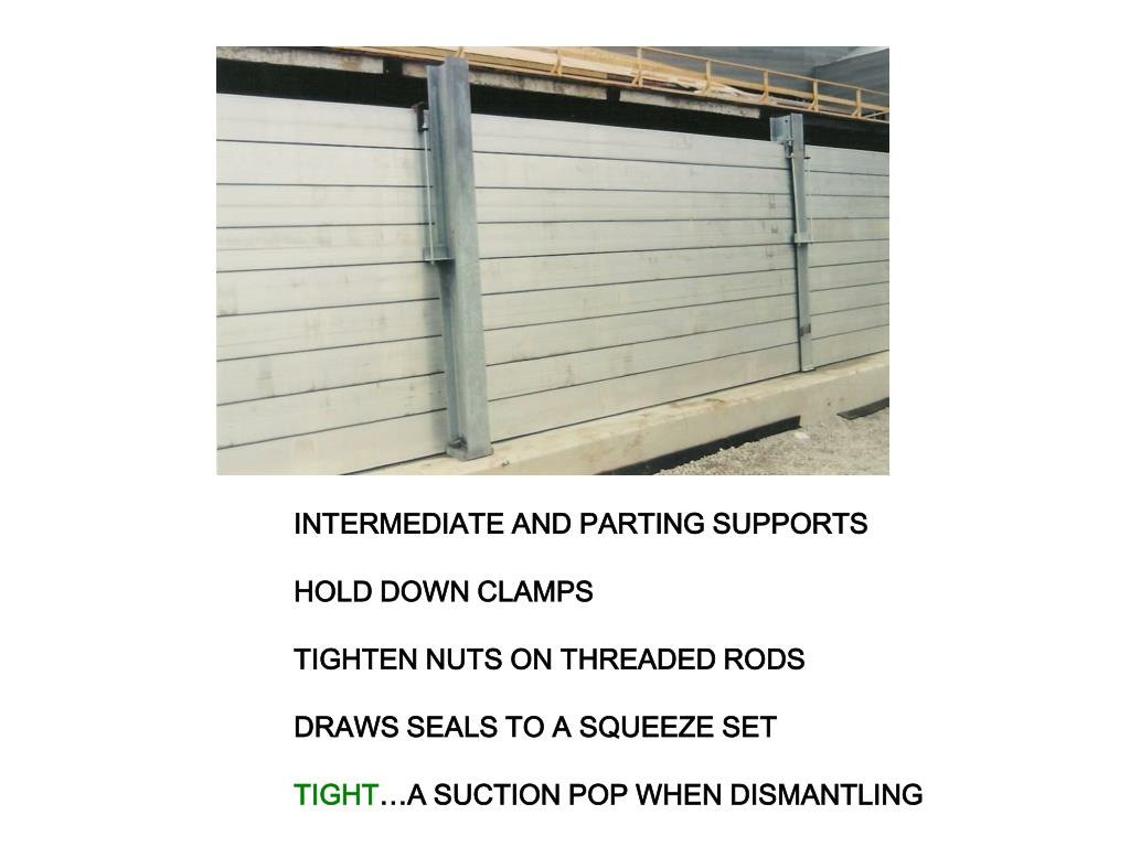 INTERMEDIATE AND PARTING SUPPORTS