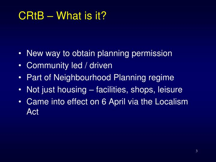 CRtB – What is it?