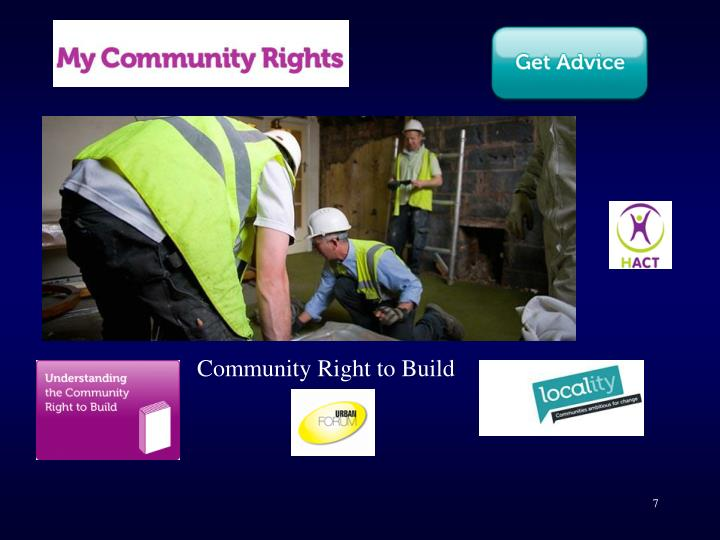 Community Right to Build