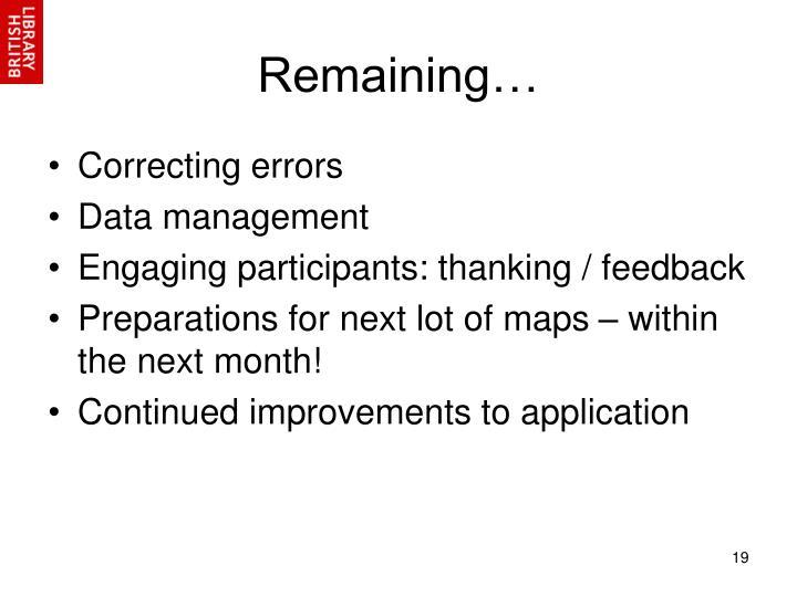 Remaining…