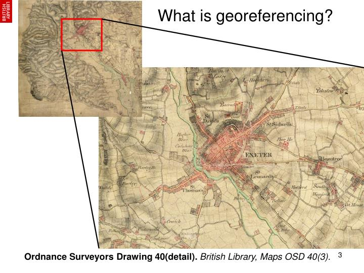 What is georeferencing?