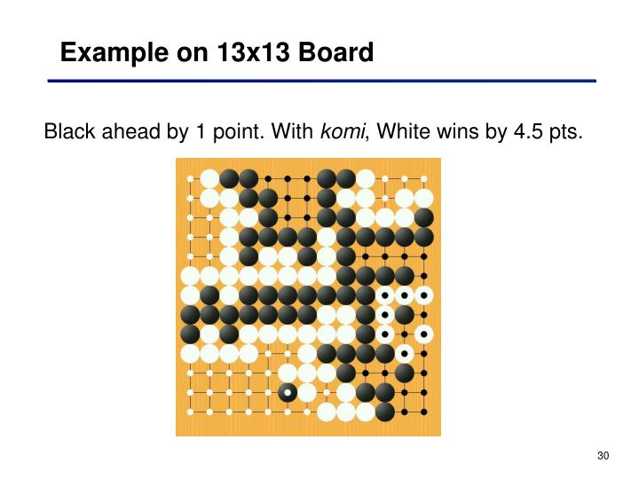 Example on 13x13 Board