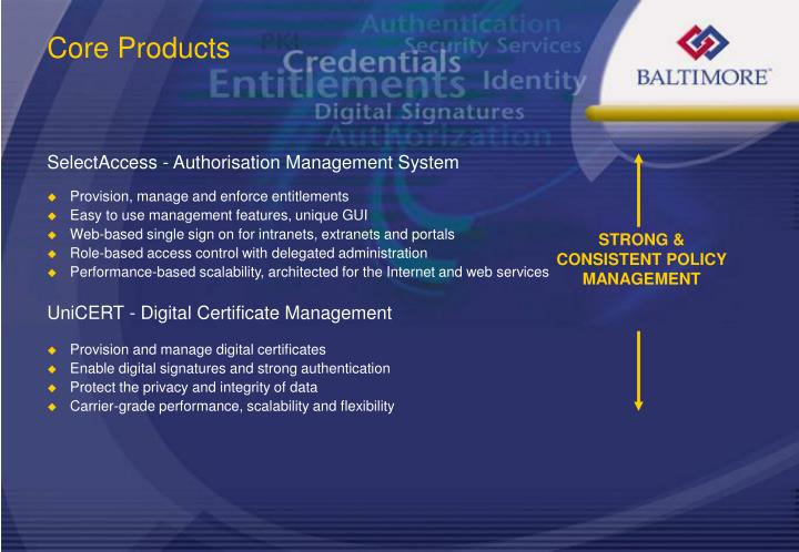 STRONG & CONSISTENT POLICY MANAGEMENT