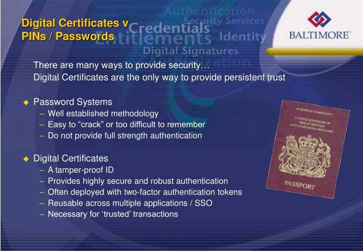 Digital Certificates v